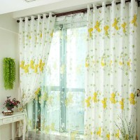 yellow and white curtain - Home The Honoroak