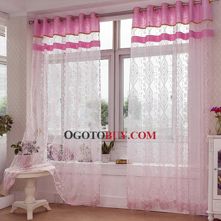 Pink Sheer Curtains Sale Online For Girls' Home Buy Pink Sheer