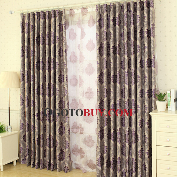 Purple Color Glamorous Style Best Thermal Curtains Buy Purple