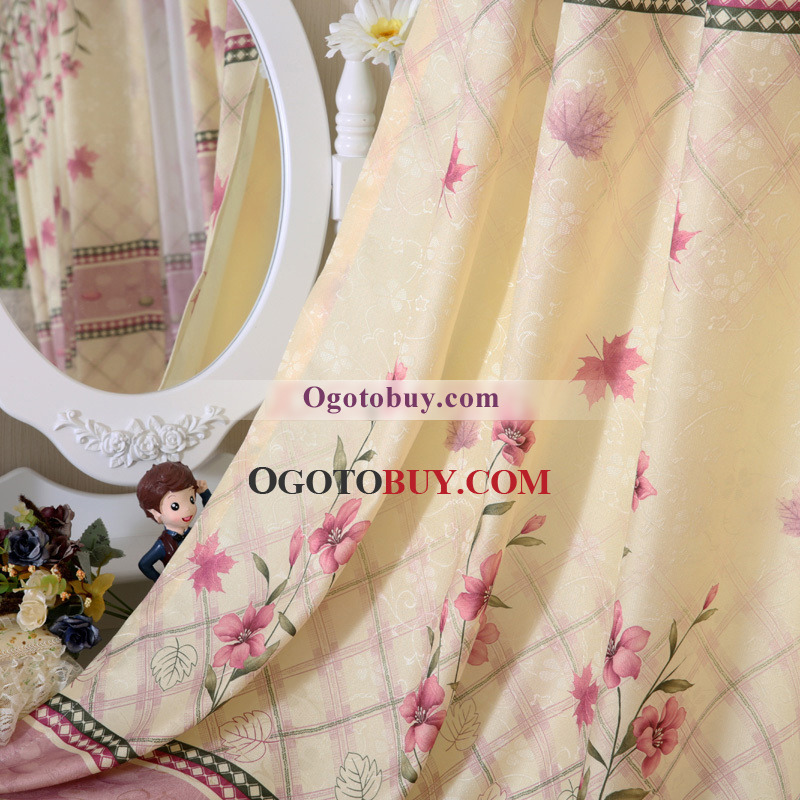 Country Bedroom Or Living Room Really Cheap Curtains Buy Pink
