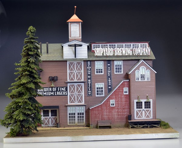 Shipyard Brewing Company by Bar Mills custom built by OGRE Modeling
