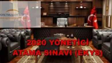 Photo of 2020 Yönetici Atama Sınavı (2020-MEB-EKYS) Başvuruları 22 Ocak 2020 de Başlıyor