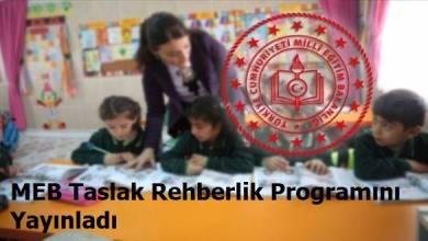 Photo of MEB' den Taslak Sınıf Rehberlik Programı