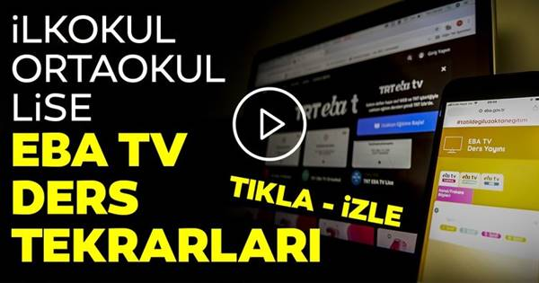 EBA TV DERS TEKRARI SEYRET