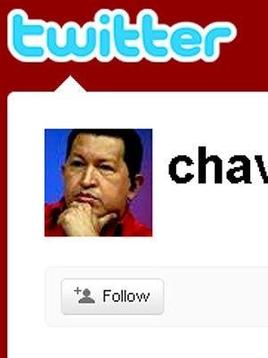 O que o Obama e o Chávez tem em comum? Perfil no twitter.<dataavatar hidden data-avatar-url=http://1.gravatar.com/avatar/4384f4262bbe1521c2877dcf9b9b7c50?s=96&d=mm&r=g></dataavatar>