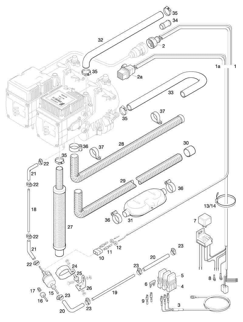 Zestaw Eberspacher HYDRONIC 10 Uniwersalny 24 V
