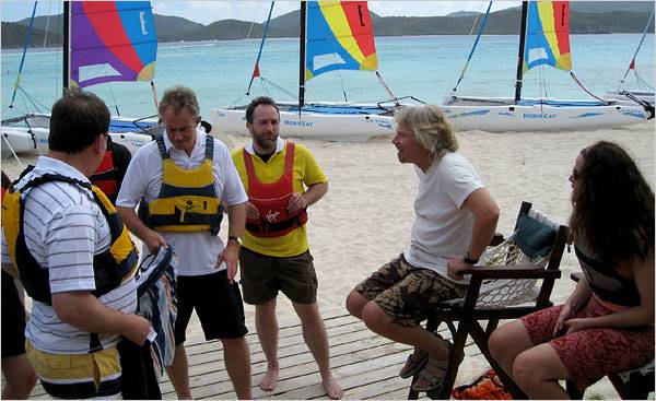 Richard Branson on an outing