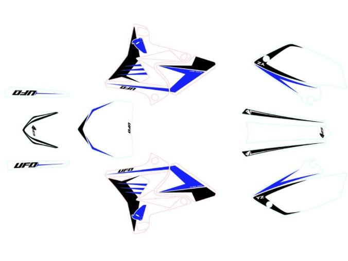 Kit deco Yamaha Replica 4T Blanc sur OH-MOTOS