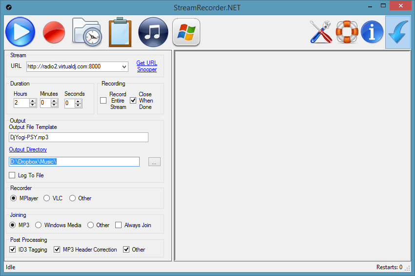 Main window (see sourceforge for more screenshots)