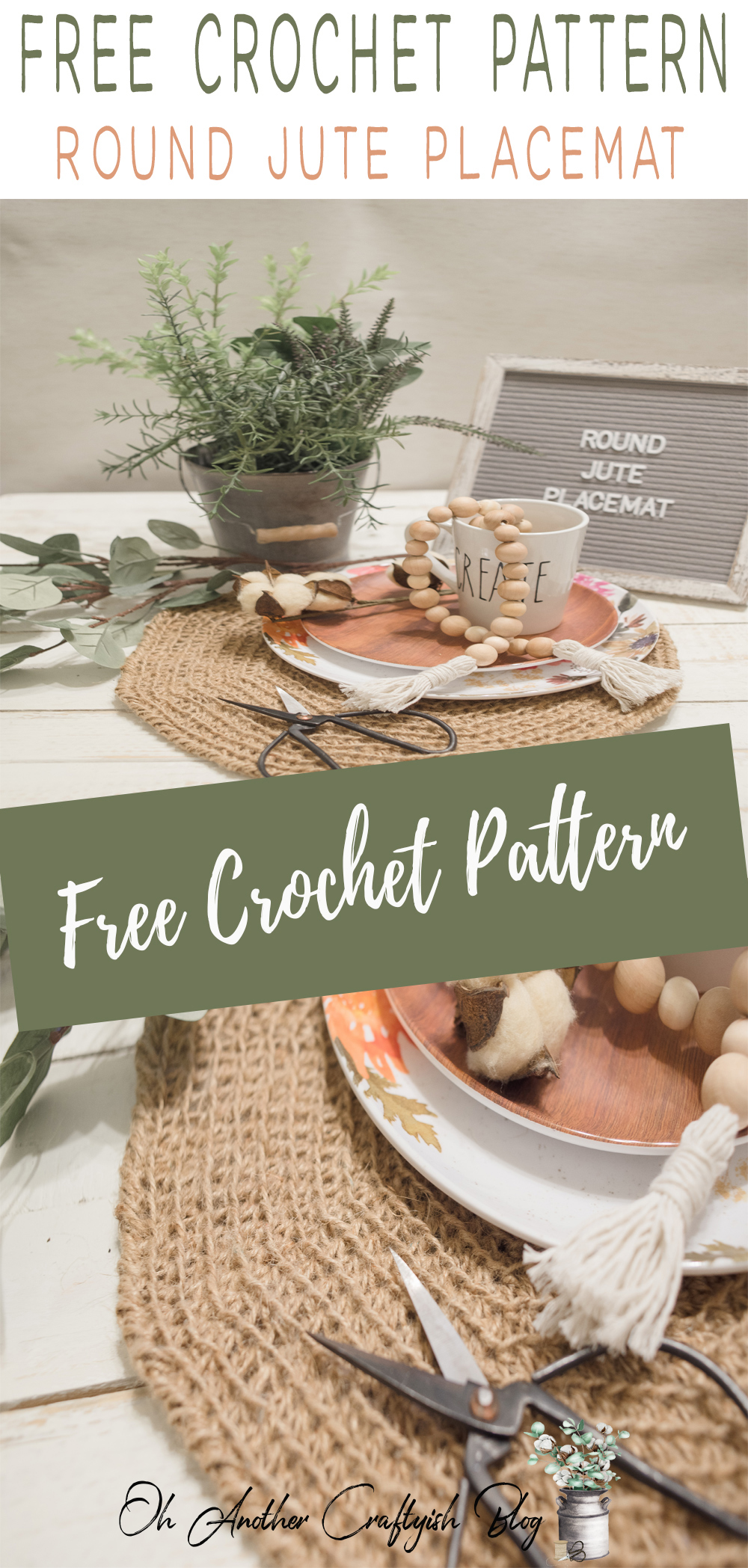 Free Crochet Pattern For The Round Jute Placemat