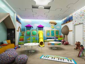 Family condos with playgrounds, crafts rooms, and other facilities