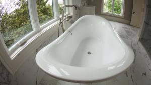 Luxury ensuite with soaker tub