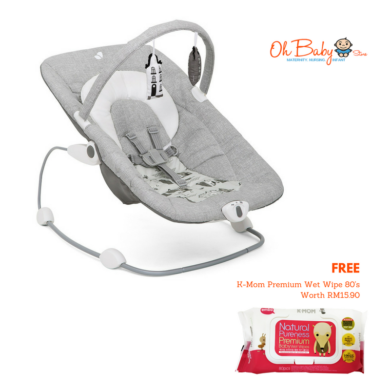 Joie Wish Baby Bouncer for New Born 9kg Free KMom
