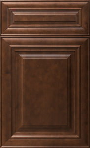 This is a picture of JK Mahogany Maple cabinet door.