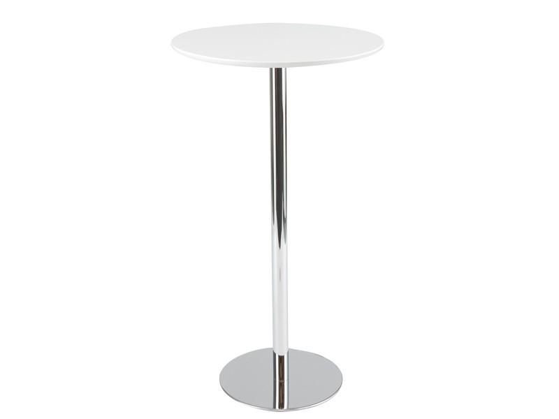 Mesa alta bar redonda de aluminio y PVC  Muebles online