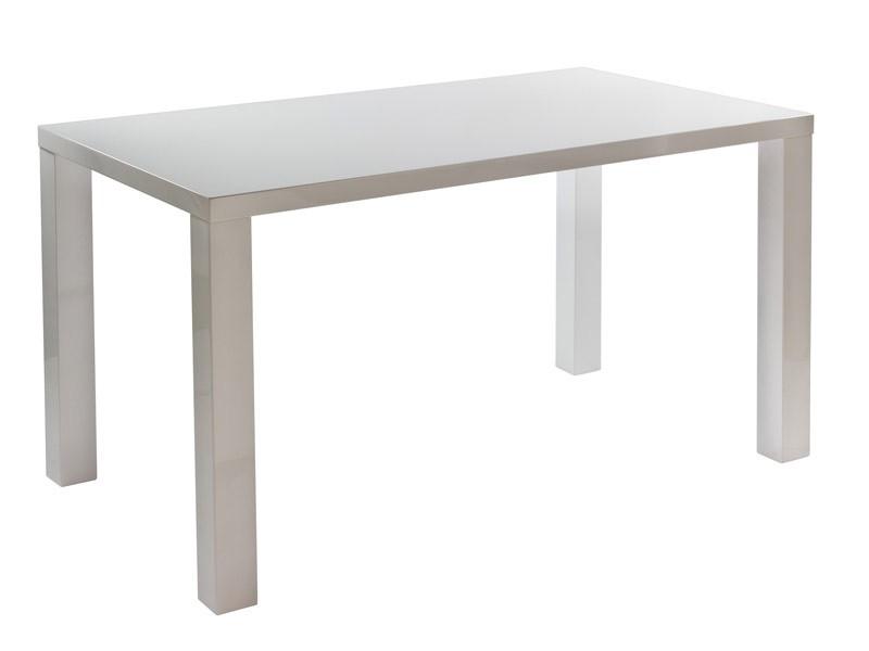 Mesa rectangular blanca de DM lacado para 6 personas