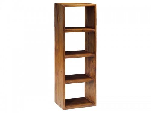 Mueble librera estrecha estilo colonial con 4 mdulos