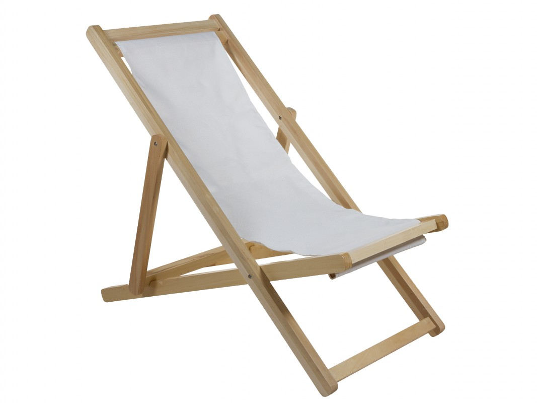 Silla reclinable exterior de madera y tela Silla terraza