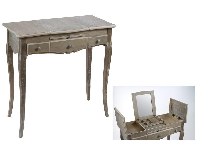 Mueble coqueta pequeo de madera estilo vintage