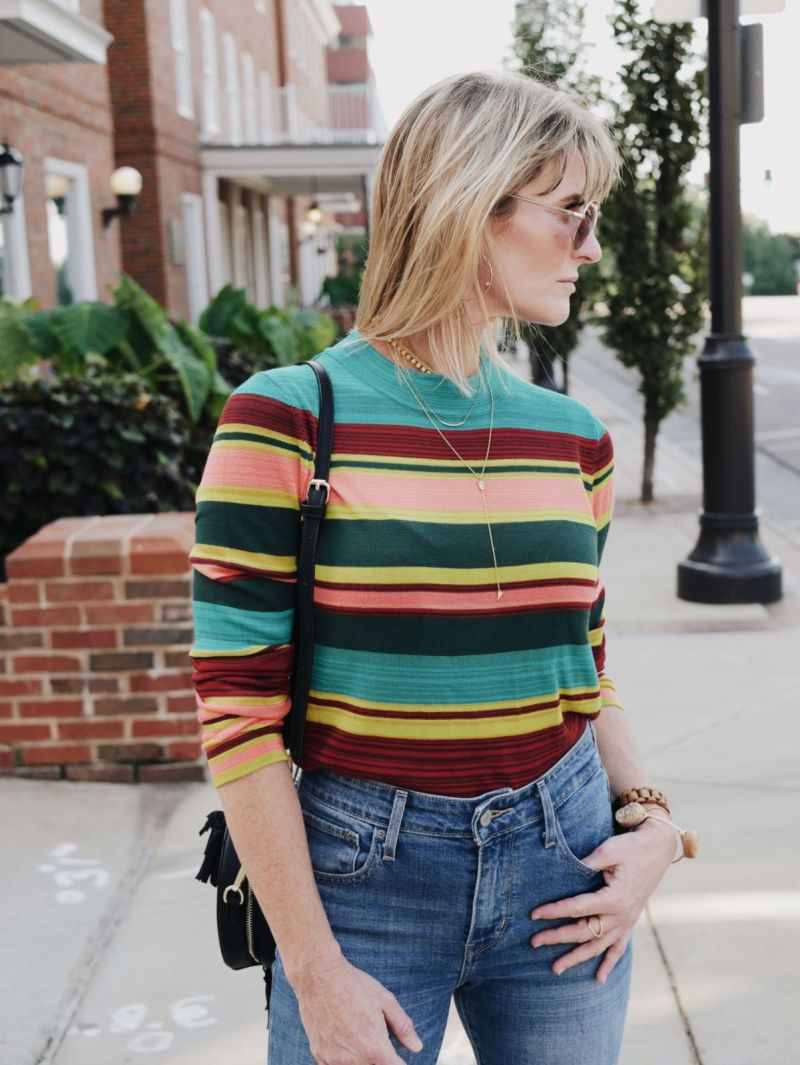 What to wear with striped sweaters: retro-inspired