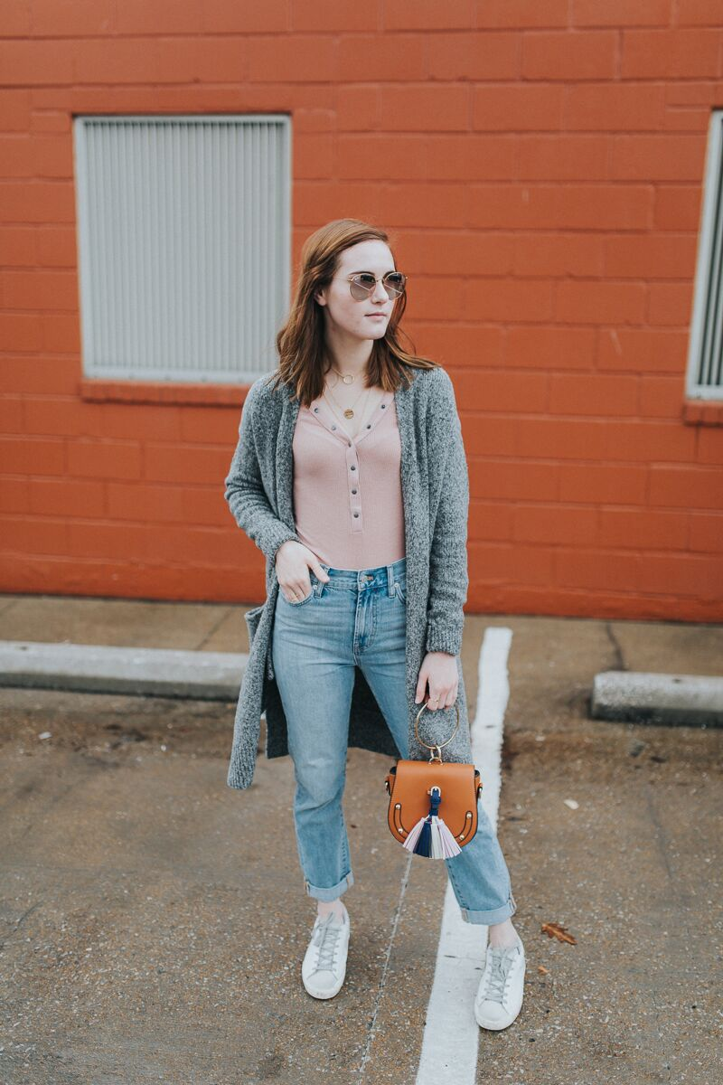 Lydia Shelton shares how to style a long sleeve henley tee