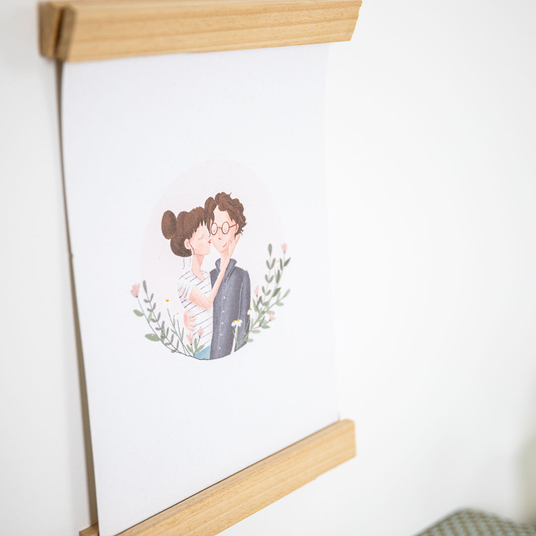 Oh Deer Design grafisch ontwerp illustratie koppel huwelijk portret gezin
