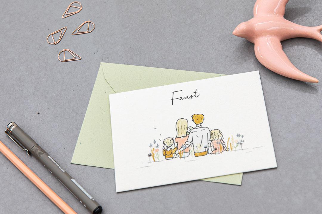 geboortekaartje op maat faust grafisch ontwerp illustratie oh deer design