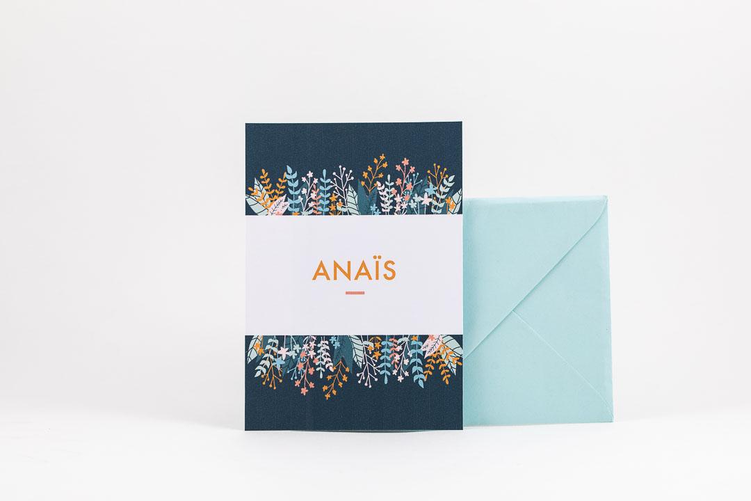 Grafisch ontwerp illustratie geboortekaartjes bloemen Anaïs Oh Deer Design