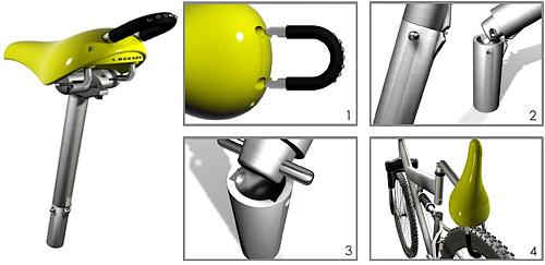 Locksit Bicycle Lock (Images courtesy Yanko Design)