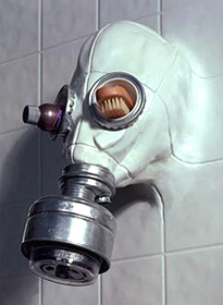 Gasmask Showerhead (Image courtesy Chris Dimino)