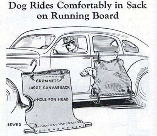 June 1936 Popular Mechanics - Dog Carrier (Image courtesy Modern Mechanix)
