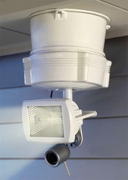 Remote Controlled Outdoor Camera And Floodlight (Image courtesy Hammacher Schlemmer)