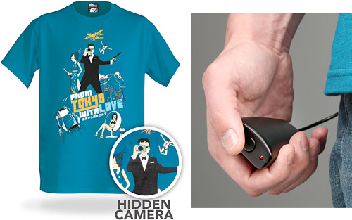 Electronic Spy Camera Shirt