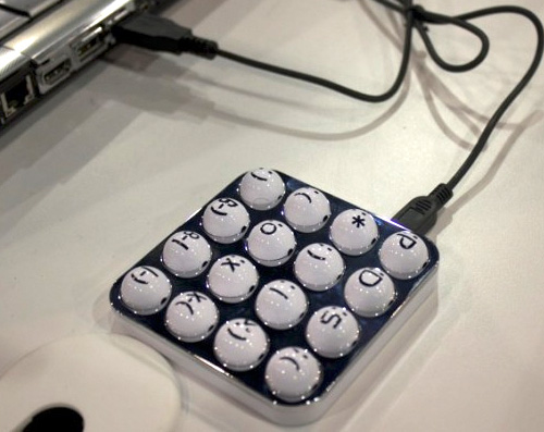 Emoticon Keypad (Image courtesy Geek.com)