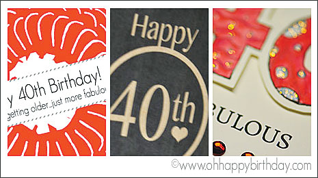 Happy 40th Birthday Cards Free Printable Cards