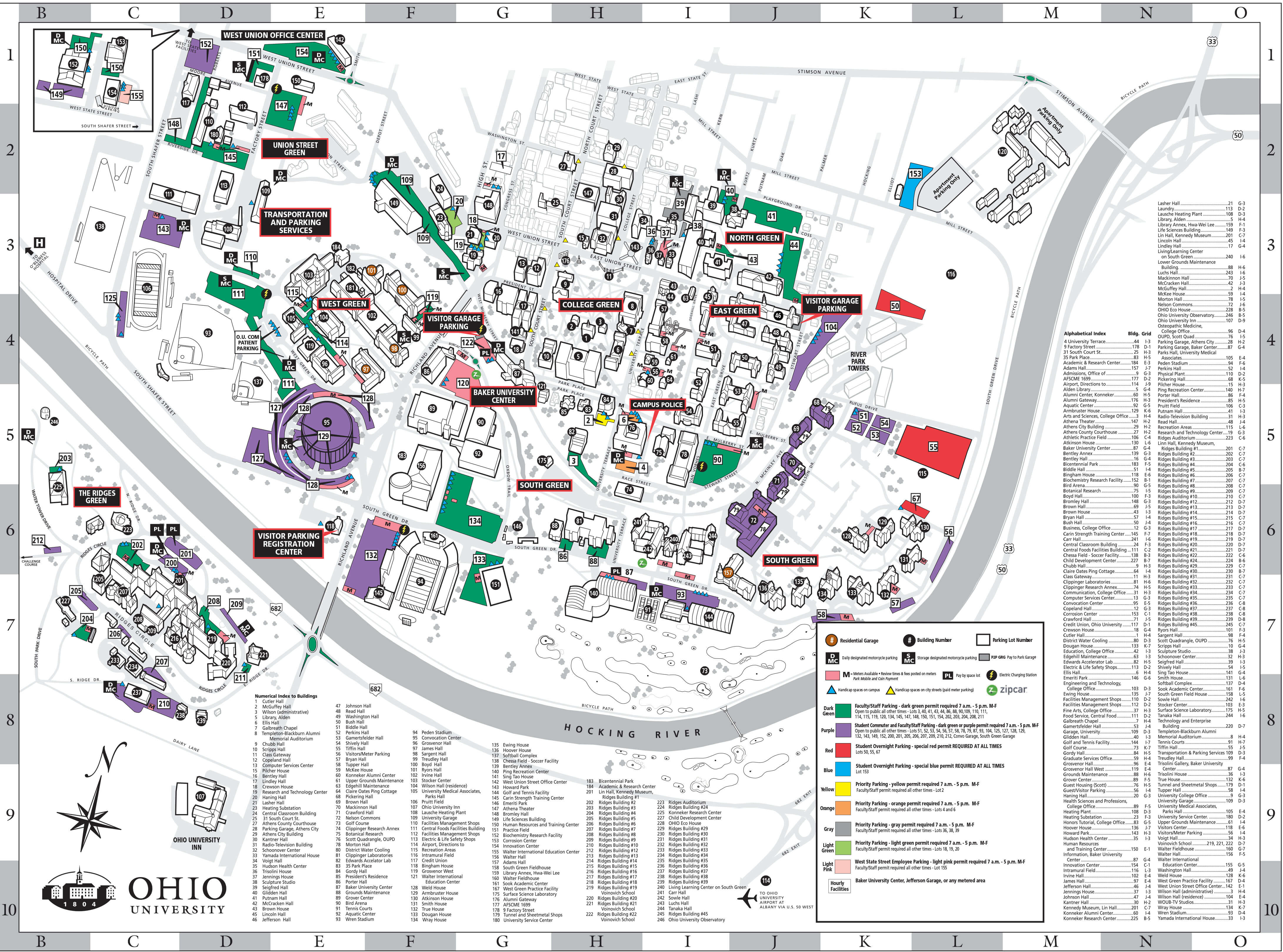 athens campus parking map