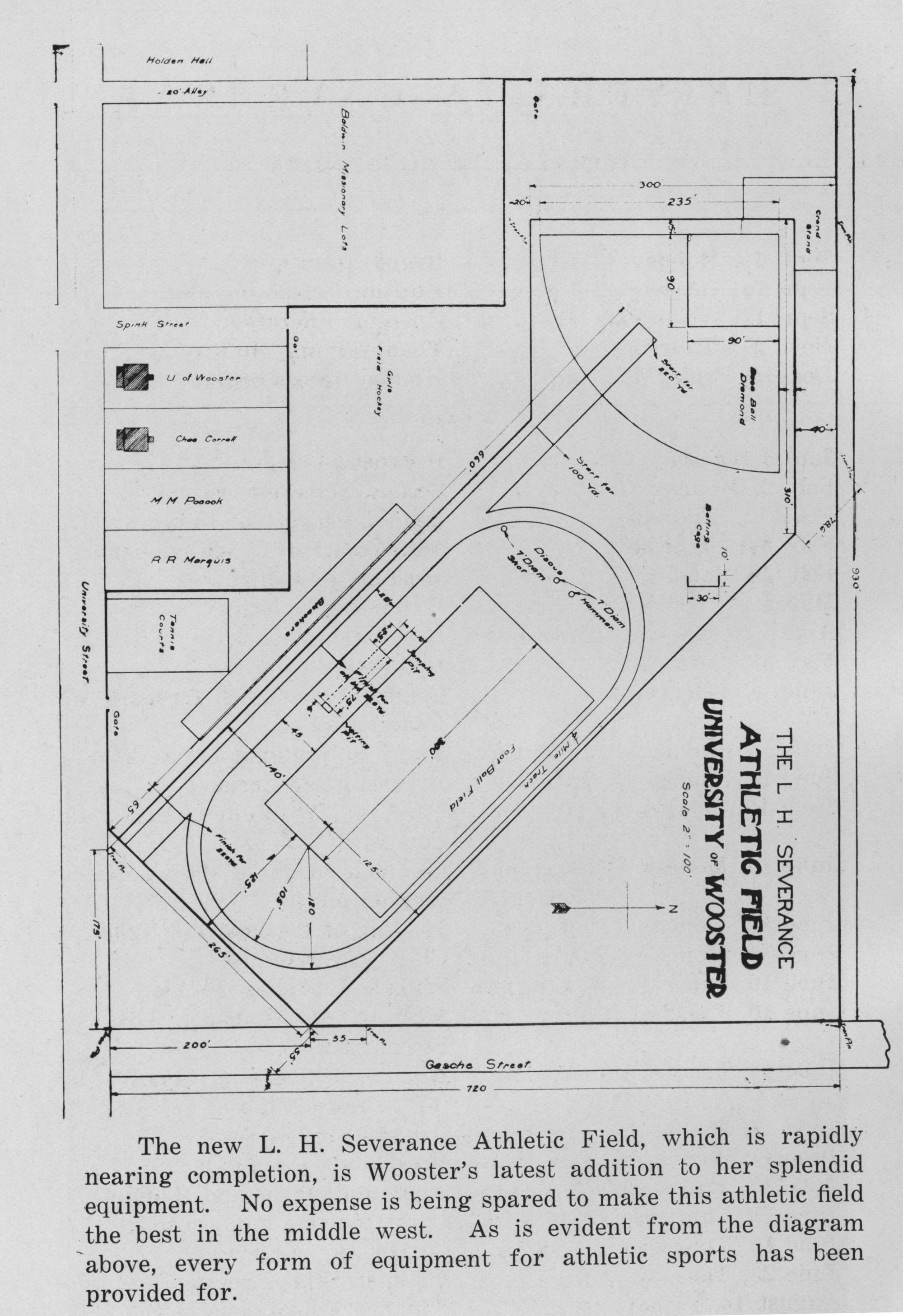 hight resolution of diagram for severance athletic field 1914