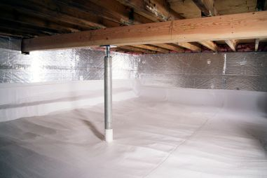 Crawl Space after encapsulation