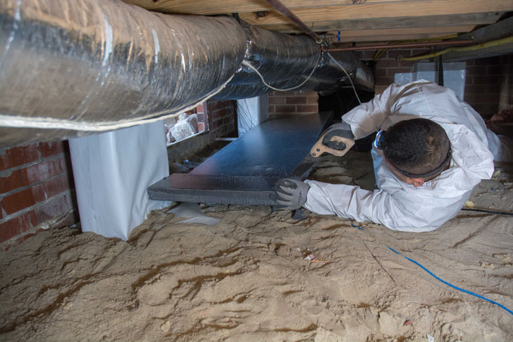 difference between insulation and encapsulation in your crawl space