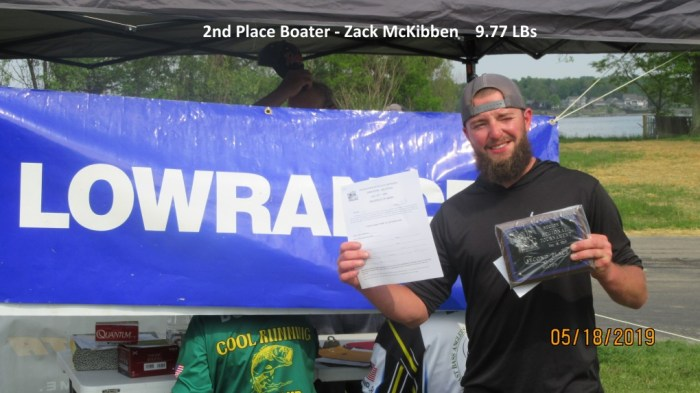 2nd Place Boater - Zack McKibben  9.77 LBs
