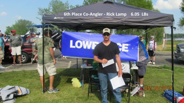 6th Place Co-Angler - Rick Lamp  6.05 LBs