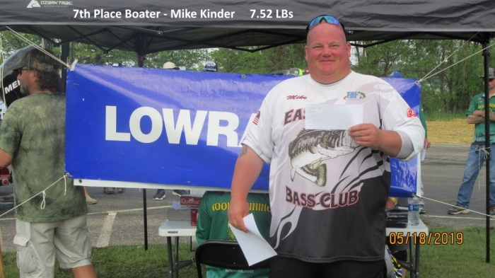 7th Place Boater - Mike Kinder  7.52 LBs