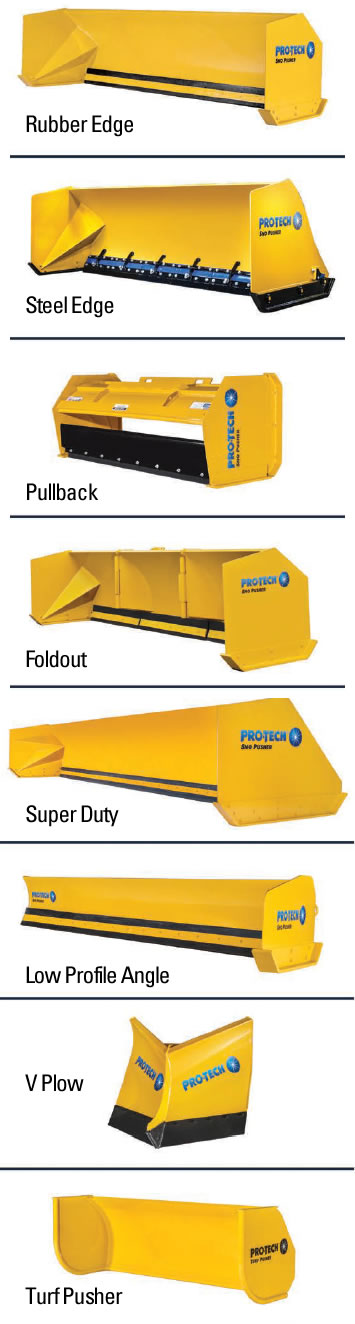 Pro-Tech snow plows and sno pushers