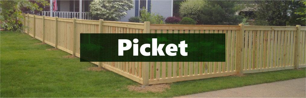Treated Picket Fence