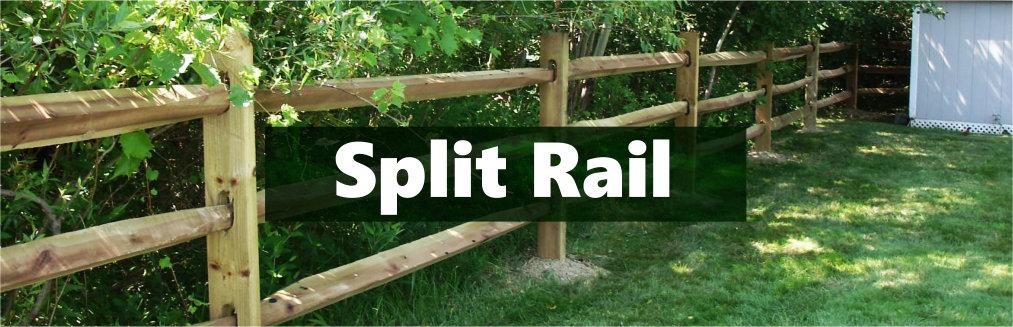 Treated Split Rail