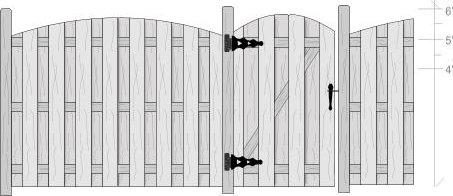 Arched Shadow Box Fence