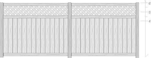 Privacy Fence w/ Lattice