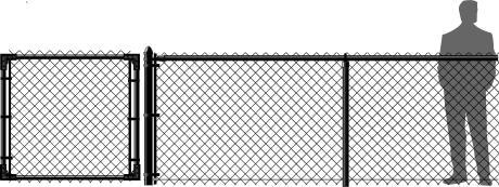 Black Chain Link Fence Vinyl Coated Ohio Fence Company