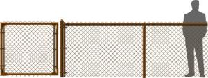 Brown Chain Link Fence Vinyl Coated
