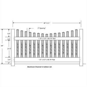 Vinyl Picket Fence – Scalloped